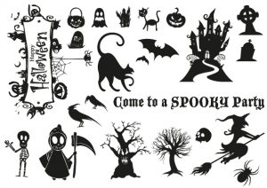 Halloween L Letterpress Plates