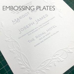 Letterpress Embossing Plates