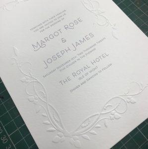 Letterpress Emboss Invitation