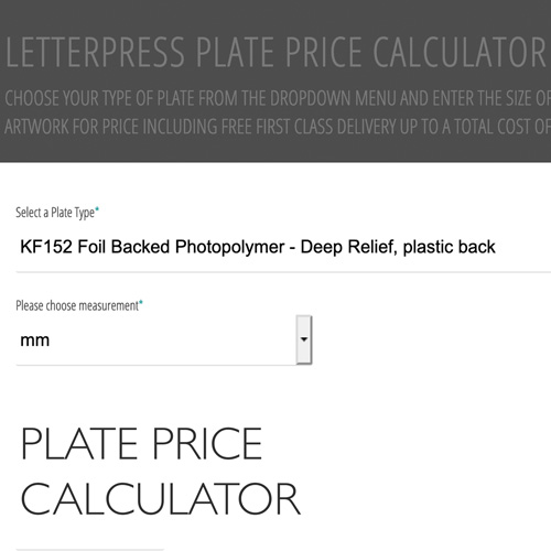Plate Price Calculator
