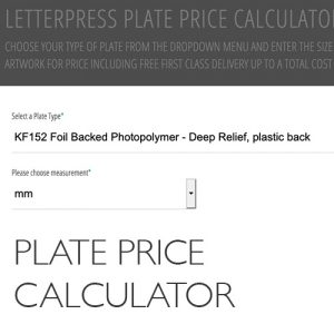 Plate Price Calculator