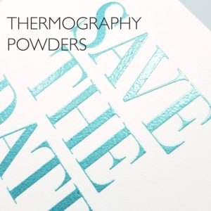 Letterpress Thermography Powders