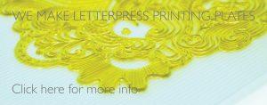 we makee letterpress printing plates
